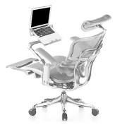Ergohuman Luxury Grey Mesh Chair with Laptop Holder