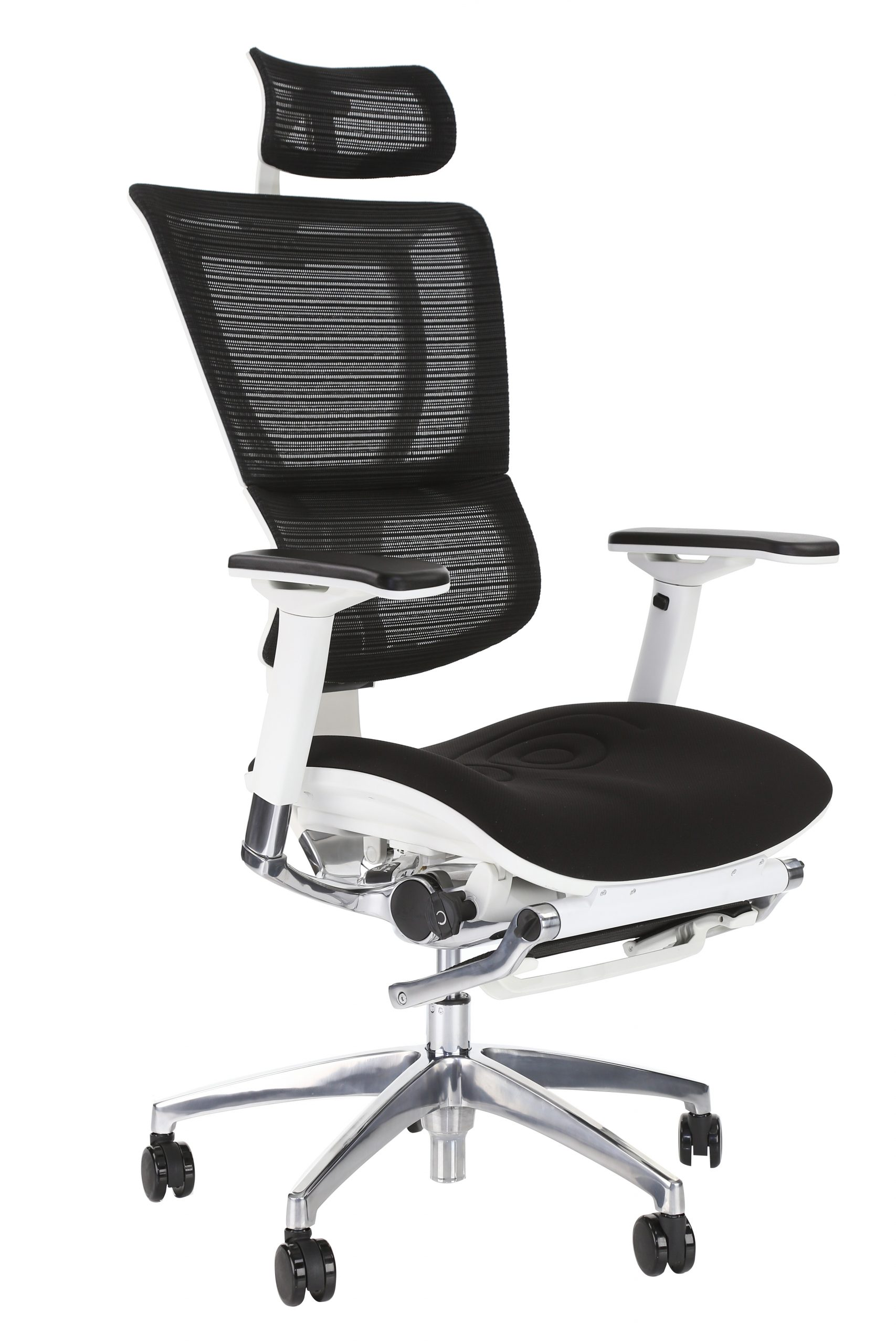 IOO High Back ergonomic office chair with leg-rest