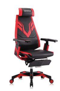 Genidia ergonomic esports chair red side view