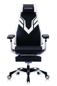 Genidia Performance Gaming Chair in black and white by Ergohuman