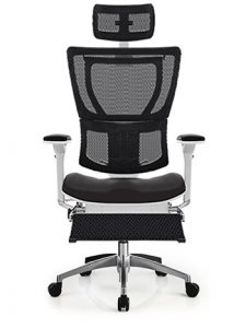 IOO High Back Fit ergonomic chair with leg-rest by ergohuman