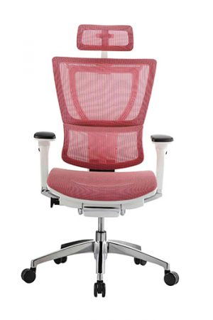 IOO High Back Fit ergonomic chair by Ergohuman Red