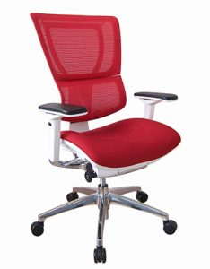 IOO High Back Fit ergonomic chair in Red by Ergohuman