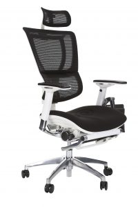 I)) FIT High Back ergonomic chair with leg-rest and laptop holder
